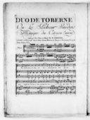 Duo de Toberne ou le Pêcheur suédois [n° 5].... Arrangés pour piano ou harpe par N. Carbonel