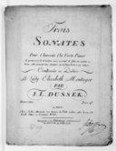 Trois sonates pour clavecin ou forte-piano, la première et la troisième avec accompagnement de flûte ou violon... Oeuvre XXV