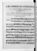 Concerto for the piano forte or harpsichord