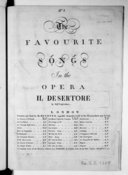 The favourite songs in the opera Il Disertore by Signor Guglielmi