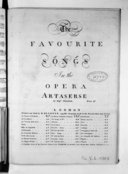 The Favourite songs in the opera Artaserse...