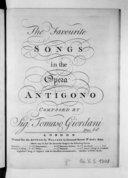 The favourite songs in the opera Antigono...