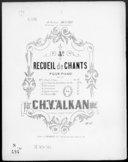 4e recueil de chants pour piano : op. 67. N° 2, La chanson de la bonne vieille / par Ch. V. Alkan aîné