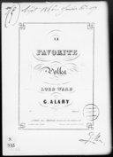 La favorite : polka : [pour piano] / composée... par G. Alary