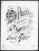 """Fête polonaise du """"Roi malgré lui"""" / de Emmanuel Chabrier ; transcr. réduite pour piano par Ernest Alder ; [ill. par] L. Denis"""