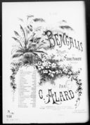 Les Bengalis. 23, La folle : romance / de Grisar ; transcription facile [pour piano] par Jules Vasseur
