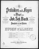 6 Präludien und Fugen für Orgel. 5, Präludium und Fuge : f-moll / von Joh. Seb. Bach ; für das Pianoforte zu zwei Händen bearbeitet von Eugen d'Albert