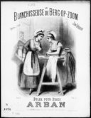 La blanchisseuse de Berg-Op-Zoom : polka pour piano / par Arban ; [d'après l']opérette en 3 actes de Léon Vasseur ; [ill. par] Chatinière