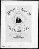 Sörgemarsch : til professor A. M. Schweigaards begravelse / komponeret af Carl Arnold ; arr. for piano tohændig af Otto Winter-Hjelm