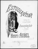 Estudiantina / célèbre duo de P. Lacome ; transcription pour piano à 6 mains [par] Henri d'Aubel ; [ill. par] E. Buval