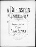La rosée étincelle : piano / improvisation de Franz Bendel ; sur une mélodie de A. Rubinstein ; [couv. ornée par] E. Buval