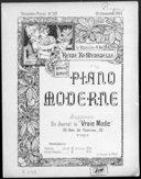 Vénitienne : barcarolle-étude : piano / par M. Bergson ; [couv. ornée par] H. Thomas