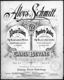 62 pianoforte-studies : selected from op. 16 and other works / Aloys Schmitt ; revised and arranged in systematic order by Carl Beving