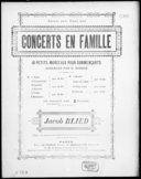 Concerts en famille : 10 petits morceaux pour commençants / arrangés par G. Sandré, pour piano seul ; d'après Jacob Blied
