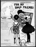 For my little friends : six pièces faciles pour piano : op. 30. N° 2, La chasse du prince charmant / J. Ermend Bonnal ; [ill. par] L. Pousthomis