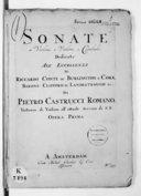 Sonate a violino e violone o cembalo... opera prima
