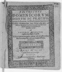 Introitus dominicorum dierum ac praecipuorum festorum, in Electoratus Saxonici ecclesiis usitatissimorum, iuxta seriem totius anni, ad modum sacrarum cantionum, quae vulgo motetas vocant quinque vocibus musicis numeris...