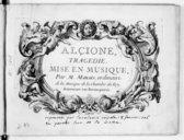 Alcione, tragédie mise en musique...