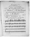 Lochaber, a favorite scotch song, sung by Mr Tenducci, at the Pantheon and Mr Abel's Concert, the instrumental parts by the late celebrated Mr Bach