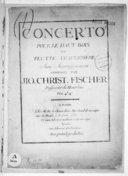 Concerto pour le hautbois ou flutte traversière avec accompagnement...