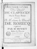 Premier Livre des pièces de clavecin ou le piano-forte... Gravé par Mme son épouse
