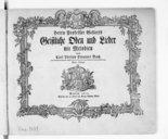 Herrn Professor Gellerts Geistliche Oden und Lieder mit Melodien von Carl Philipp Emmanuel Bach. [Wq. 194. A 1 voix et piano] (Vierte Auflage)