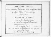 Sixième livre contenant la huitième et la neufième suite à deux flûtes traversières sans basse...