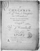 Concerto a flute principale ou hautbois, premier et second violon, alto, basse et cors... [n° 1 en la]