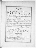 Six sonates à deux flûtes ou deux violons... Oeuvre III