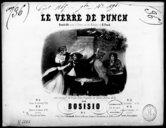 Le verre de punch : quadrille pour le piano sur des mélodies de H. Proch : avec accompagnements de violon, flûte, flageolet ou cornet à pistons, ad. lib. / par Bosisio ; [arrangé pour le piano par G. Redler] ; [ill. par]...