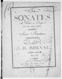 Six Sonates à violoncel et basse d'un genre facile et agréable... Opéra XXVIII