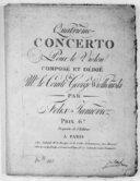 Quatrième concerto pour le violon... [en la]