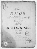 Six Duos pour violon et alto... Oeuvre VIIIe