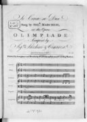 Se cerca se dice, sung by sigr. Marchesi in the opera Olimpiade composed by sigrs. Sacchini and Cimarosa