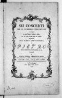 Sei Concerti per il cembalo concertato accompagnato da due violini, violetta e basso con due corni e due flauti per rinforza... [Wq 43]