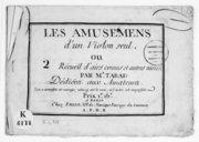 Les Amusemens d'un violon seul ou 2 recueils d'airs connus et autres variés par M. Tarade... l'on a contrefait cet ouvrage, celui-cy est le vrai et l'autre est imparfait...