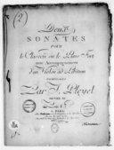 Deux Sonates pour le clavecin ou le piano-forte avec accompagnement d'un violon ad libitum... Oeuvre XI. [B 5727]
