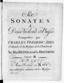 Six sonates à deux violons et basse... Oeuvre III