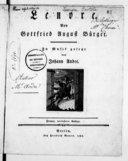 Lenore, von Gottfried August Bürger.... Zweyte verbesserte Auflage [pr 1 v. & pf.]