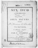 Six Duos concertans pour deux flûtes...
