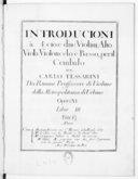 Introducioni a 4, cioe due violini, alto viola, violoncelo e basso, per il cembalo... opera XI. Libro III...