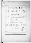 Pièces de clavecin... Gravées par Mlle Vendôme