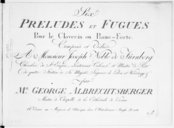 Six Préludes et fugues pour le clavecin ou piano-forte...