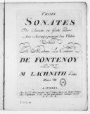 Trois Sonates de clavecin ou forte piano avec accompagnement d'un violon... oeuvre VIII