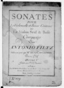 Sonates pour le violoncelle et basse continue ou le violon seul et basse..., mises au jour par M. de La Chevardière.... Oeuvre V. Gravées par P. L. Charpentier