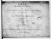 Arie Bald schwelg'ich am Tische etc. im dritten Theil der Donau-Nymphe eingelegt von Herrn Unzelmann als Larifari...