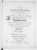 Six concertos in seven parts for four violins, one alto viola, a violoncello and thorough bass for the harpsichord, with general rules for playing instrumental compositions in parts but more especially calculated for the...