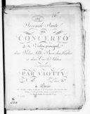 Seconde suite de concerto a violon principal, deux violons, alto, basse, deux hautbois, et deux cors ad libitum... N° [16]