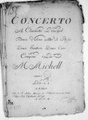 Concerto a clarinette principal, deux violons, alto et basse, deux hautbois, deux cors... [n° 2 en si b]