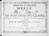 """Pièces d'Orgue. Messe en """"fa"""" M""""ajeur"""".... Composée par M.r Benaut maître de clavecin..."""